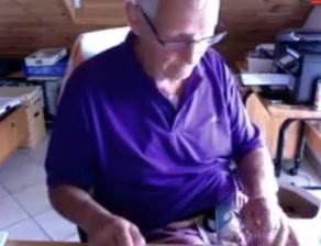 grandpa jerking off Lou lou fucked