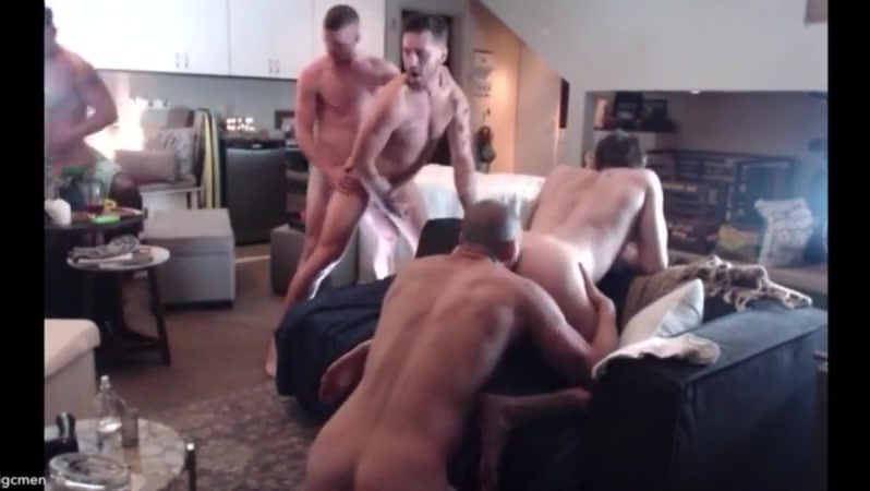 BigCMen 5 Way With Jack Hunter, Josh Moore and Ricky Roman 2 Amateur sexy video swimming pool