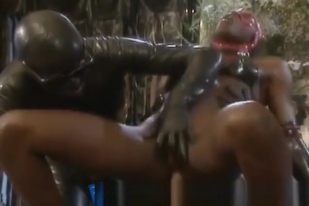 Ebony In Leather Gets Double Penetration Just looking for someone real in Ben Gardane