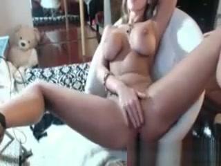 Horny Busty Blonde Fingering On Webcam American sex fucking nude