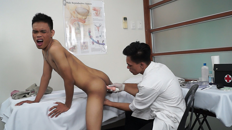 Dr. Argie & Jordan - Turn Your Head and Cough - DoctorTwink Wet dream christian