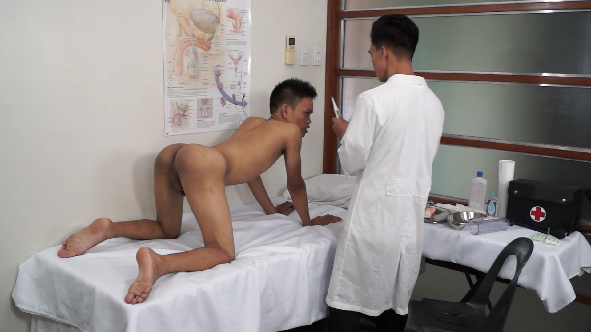Asian Twink Medical Fetish Anal Probing - DoctorTwink hottest black tranny fucks tied guy porn