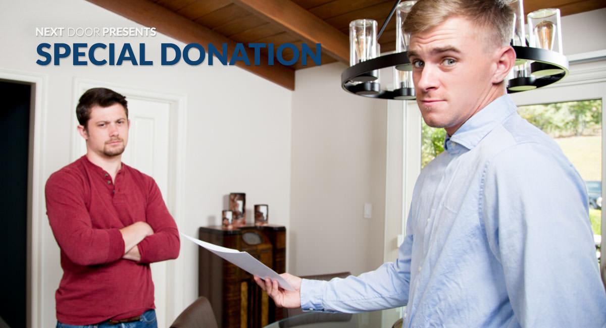 Ryan Jordan & Mason Williams in Special Donation - NextdoorStudios American white girl porn