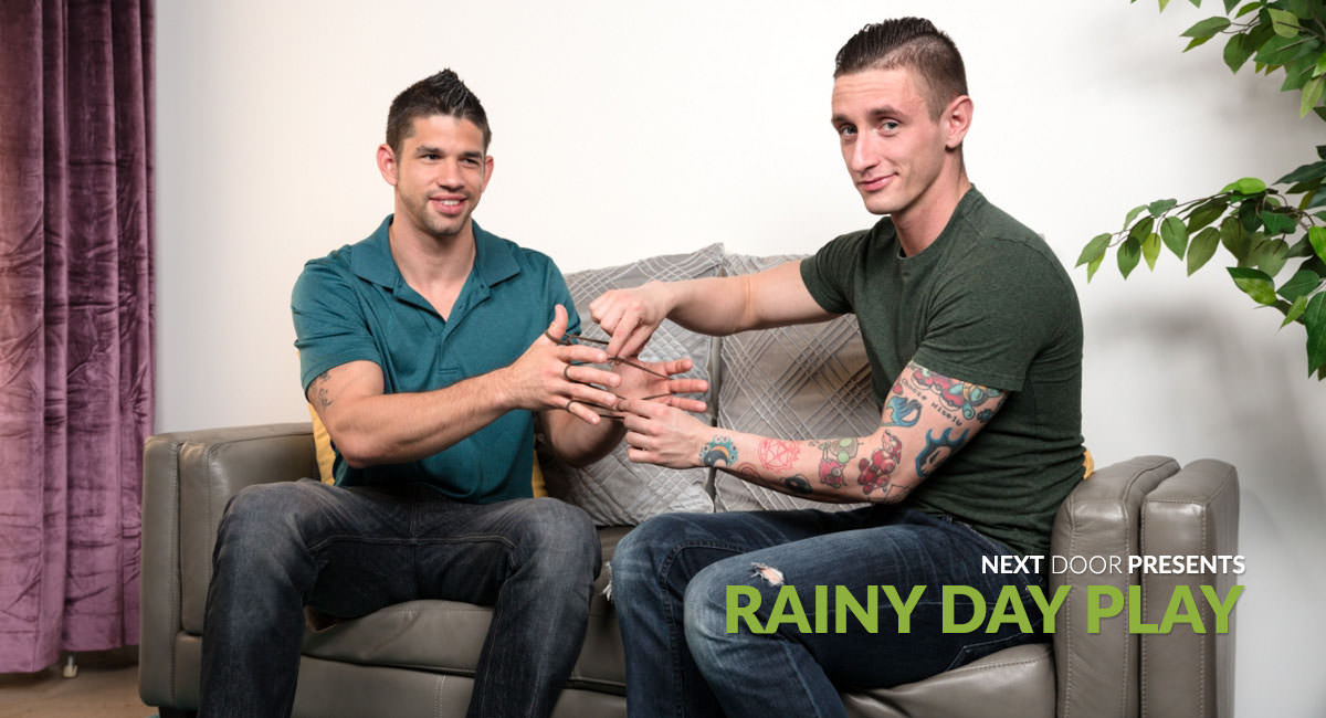 Lance Ford & Jason Richards in Rainy Day Play - NextdoorStudios Drive thru boob flash
