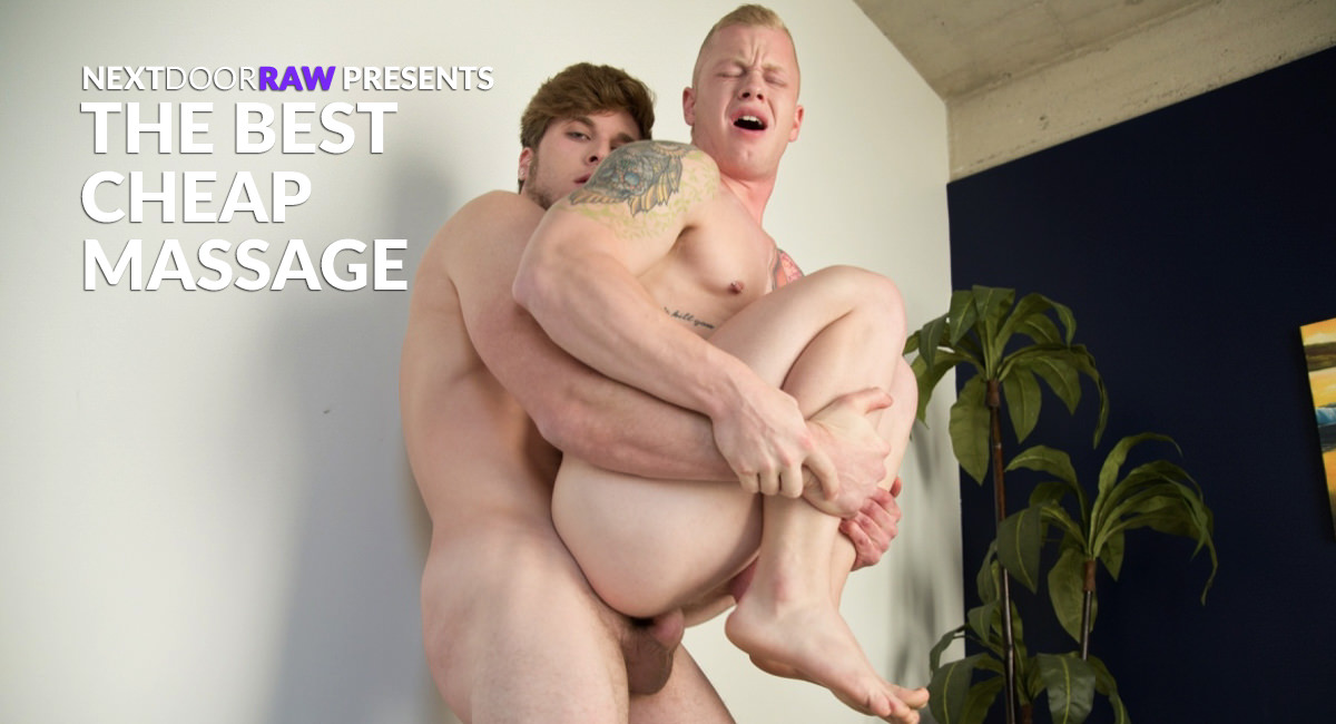 Leo Luckett & Colton Cain in The Best Cheap Massage - NextdoorStudios ebony girlfriend takes huge loads of cum on her face