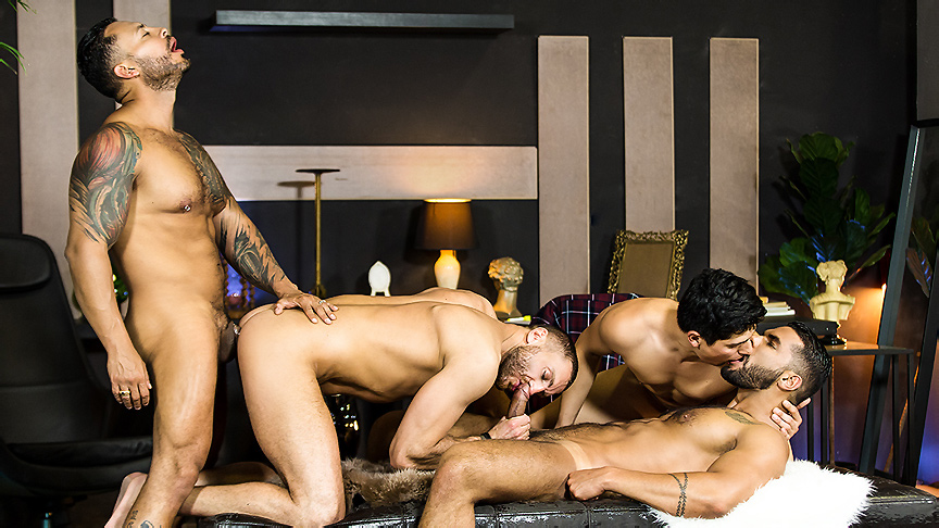 Emir Boscatto & Ken Summers & Lucas Fox & Viktor Rom in Telenovela Part 4 - MenNetwork How to fuck on tinder