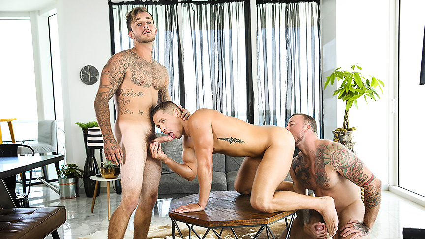 Aston Springs & Brian Michaels & Sean Duran in Game On Part 3 - MenNetwork Squirt girl audition slut load