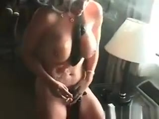 Naked Blond Chick Smokes Cigar With Her