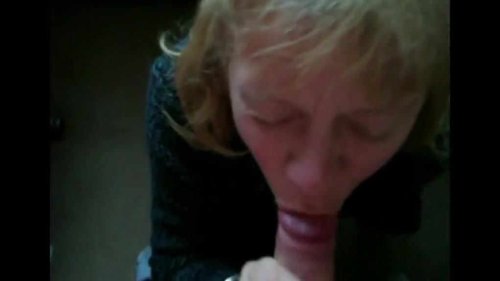 mature blonde slut sucks cock