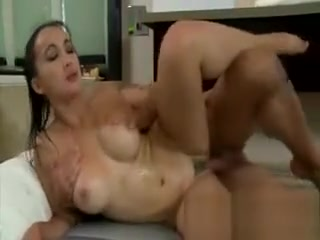 Busty Brunette Hottie Massages Clients With Her Coochie how to produce a gallon of cum