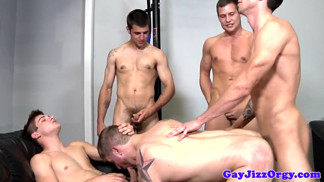 Bukkake loving blindfolded jock gets cumshots Wtf pass massage porn