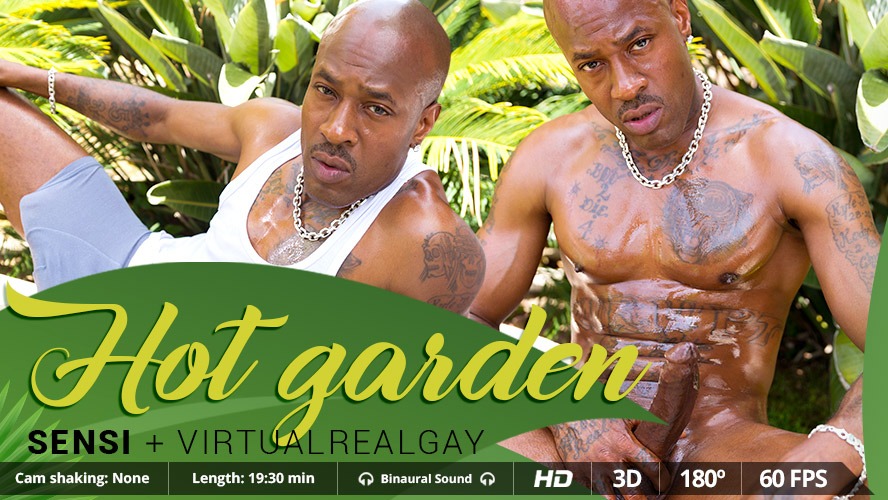 Hot Garden - Virtualrealgay Big dark ebony titties