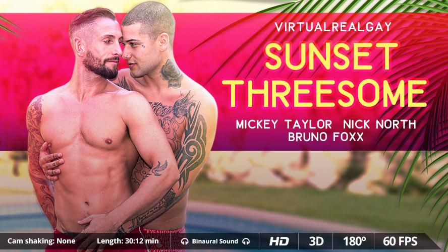 Sunset Threesome - Virtualrealgay hdvpass zoey holloway is one horny milf 1