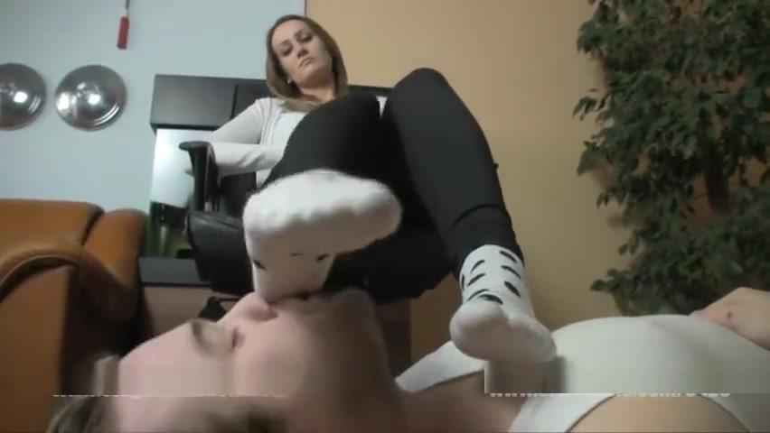 Blonde has her combat boots unlaced and rests her socks on her doormat boy Big melon milf