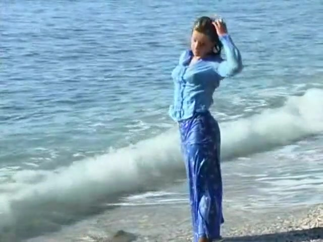 Wetlook - Louise In A Blue Cotton Blouse And Long Skirt In The Sea Sex for money in Oostanay