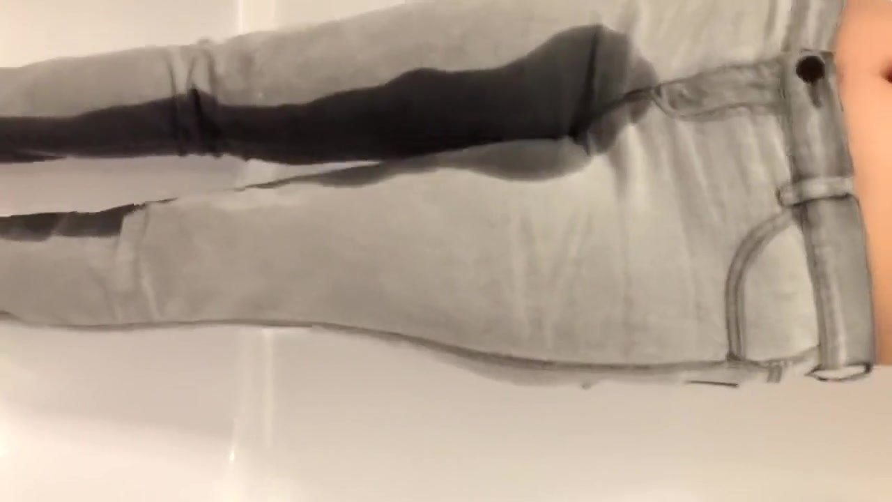 Grey jeans wetting Scum slut tube