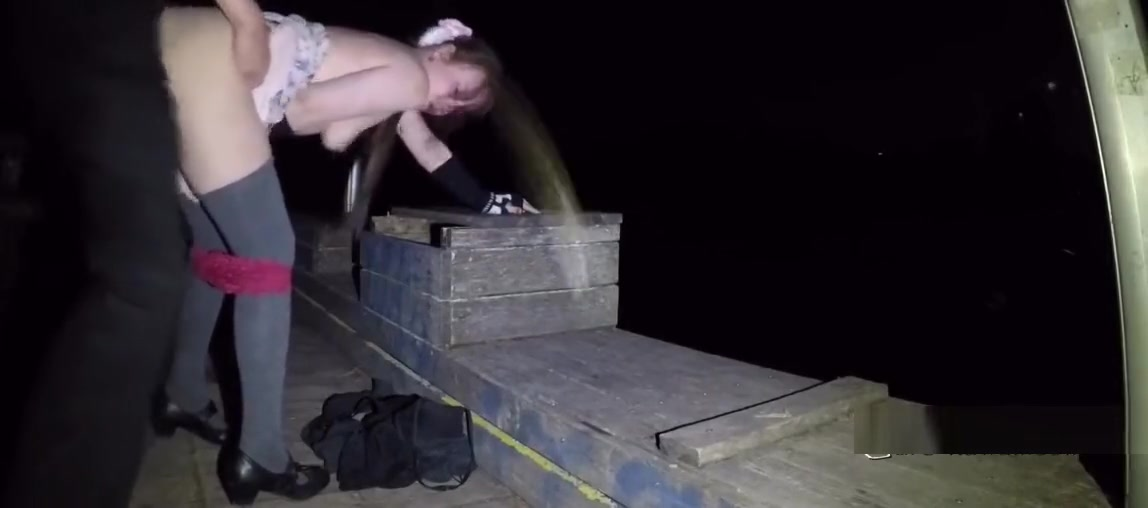 LN?s#37 Petite cutie in short skirt, BJ & quickie lake bridge night sex positions for best orgasm