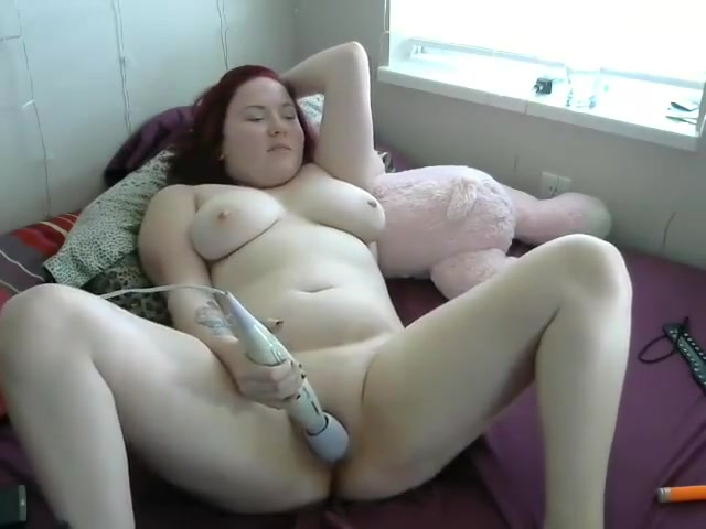 Camgirl fucks herself and spreads ass Redhead tied in rope in various positions in bondage