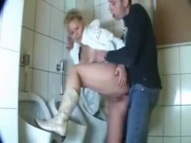 German mature woman fucked in public toilet Kyra getting that glamour ass fucked