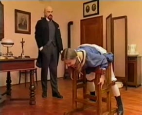 Bald teacher spank young student One great blow job