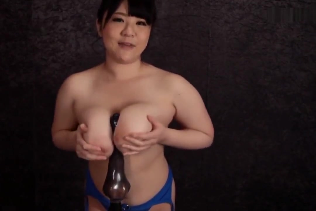 Mikoto Yatsuka mauls dildo with her ample meat pillows until it explodes Husband and wife fuck her cousin