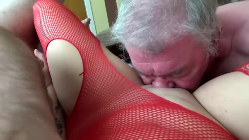 Wanking off two old guys