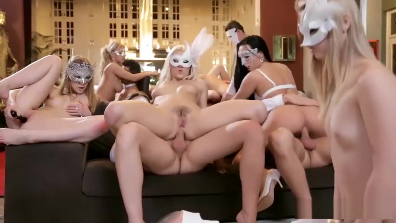 Hot Girls With Masks Fucked In The Ass In Anonymous Glamour Orgy