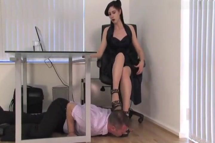 Guy Licking Brunette Heels