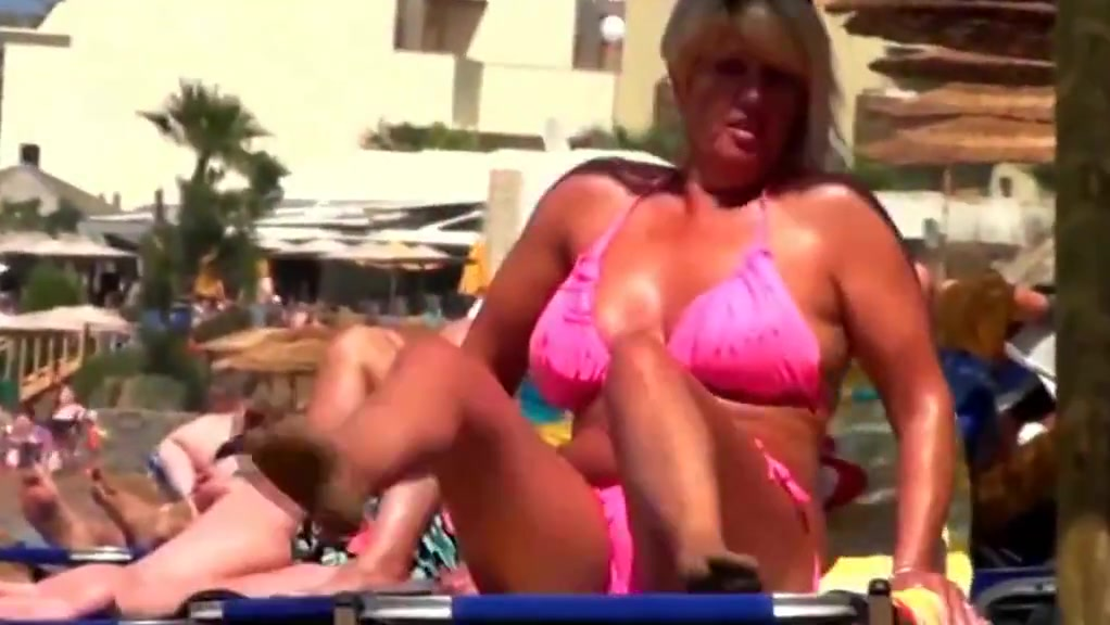 Spy Beach Mature Tribute Granny Saggy Tits Nipples Swimsuit