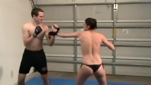 Topless Nana Kickboxing