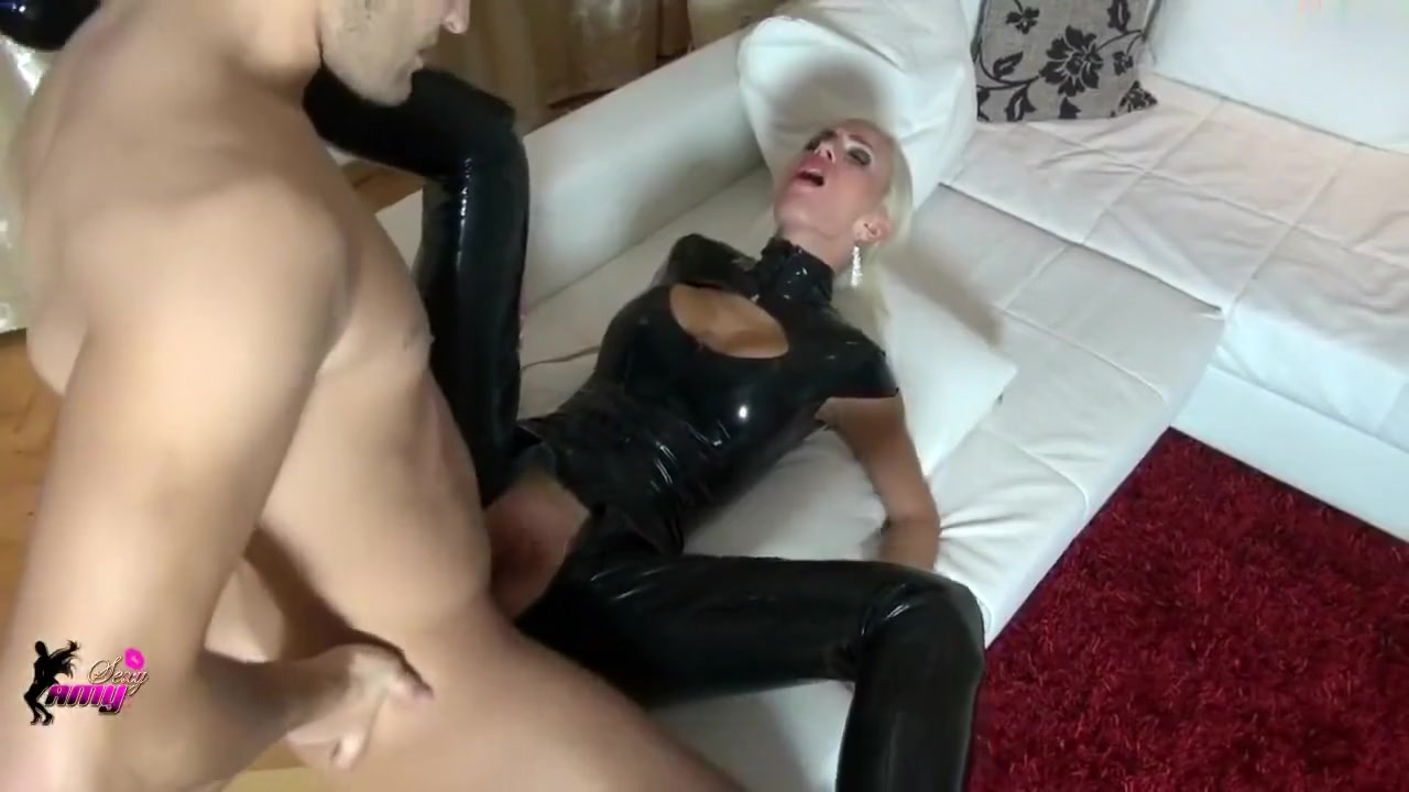 Blonde in latex takes cock deep inside her Miss nudist pageant china