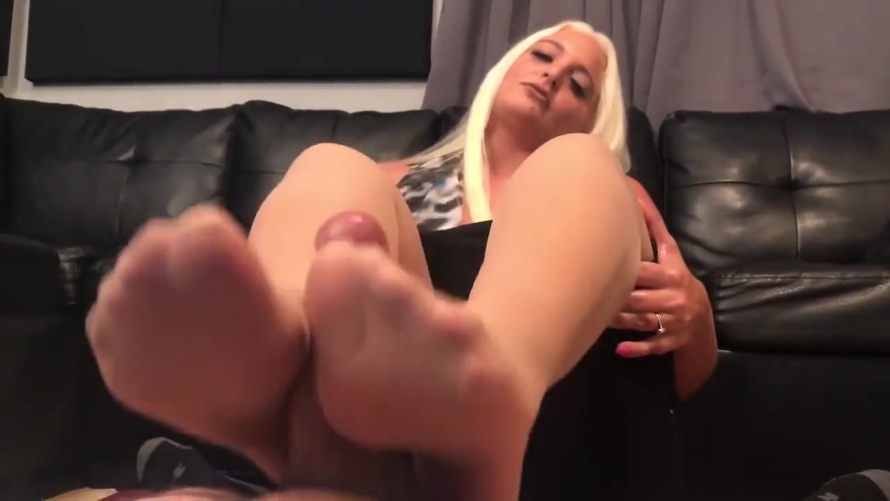 Macy Cartel seals deal with pantyhose footjob British milf gets fucked in hold ups