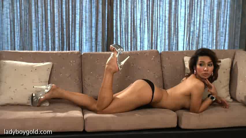 LadyboyGold Scene: Corset Caress Spinal arthritis exercises