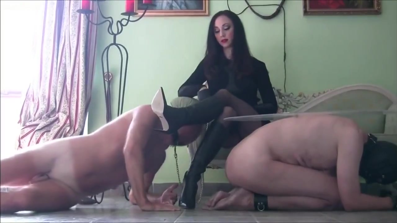 Feet licking slaves Playful female domination