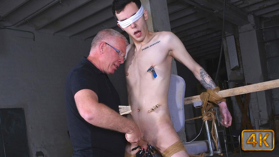 Stealing Cum From The Twink - Alexis Tivoli & Sebastian Kane - Boynapped fetish hose pantie shiny