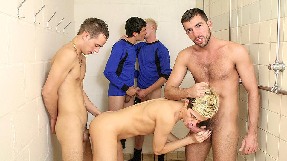 Footballer Gang Bang In The Changing Room - Damian Boss, Luke Desmond, Skylar Blu, Lucas Davidson & Rile - TXXXMStudios toga party mr skin nude