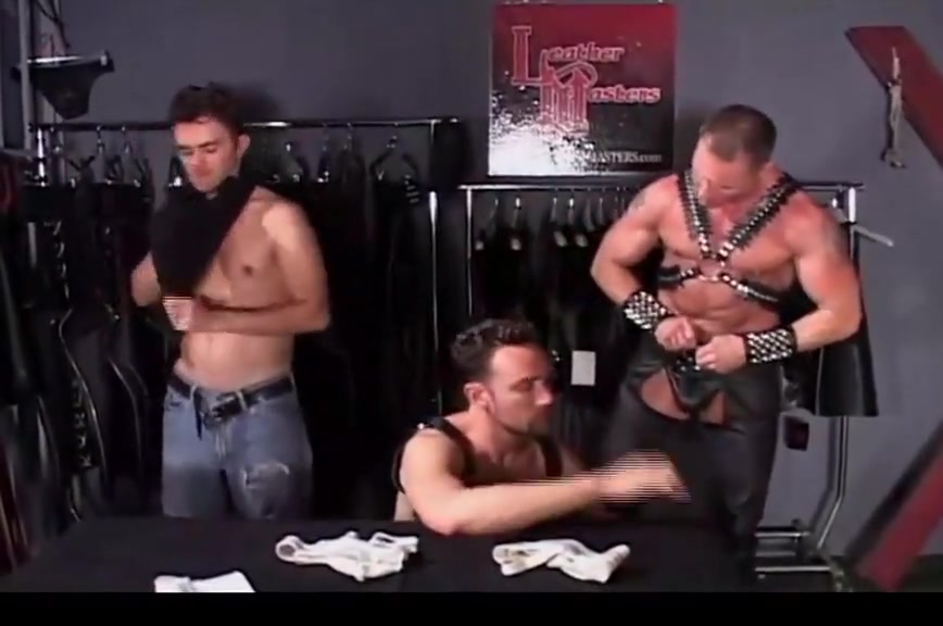 Try-on in Leather Shop Raw female domination