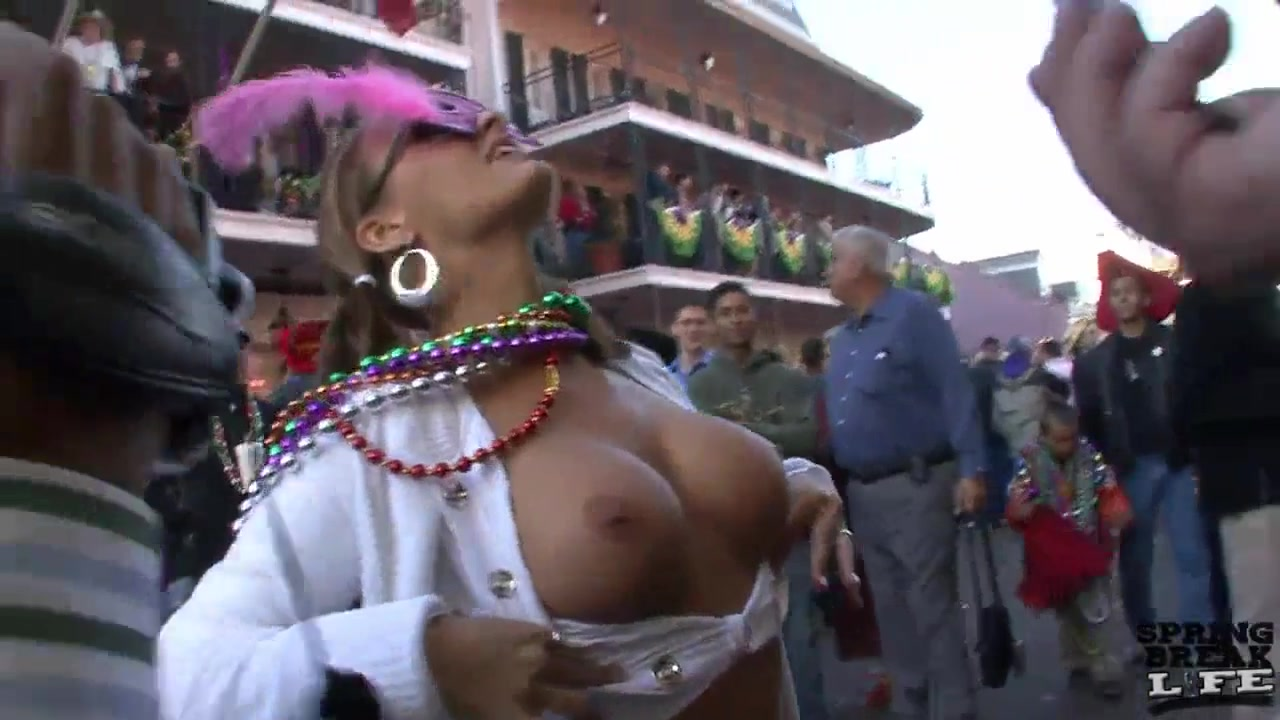 Mardi Gras Chicks Flashing in the Streets - SpringbreakLife milf my first teacher