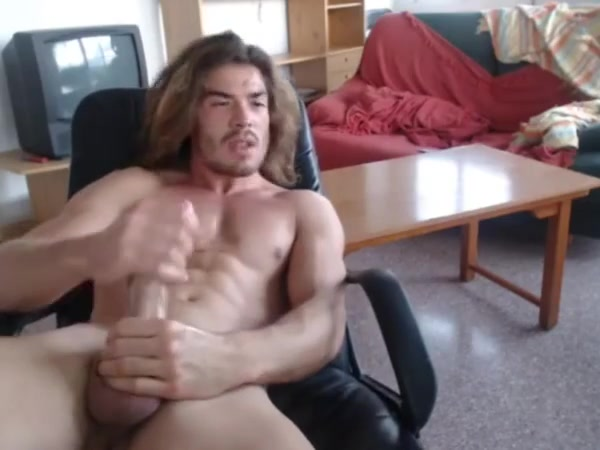9.5 inches of Spaniard cock cumming Frott Pussy