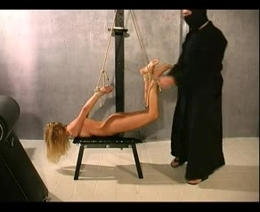 Slim Blonde In A Modified Hogtie Porn gifs hardcore toys