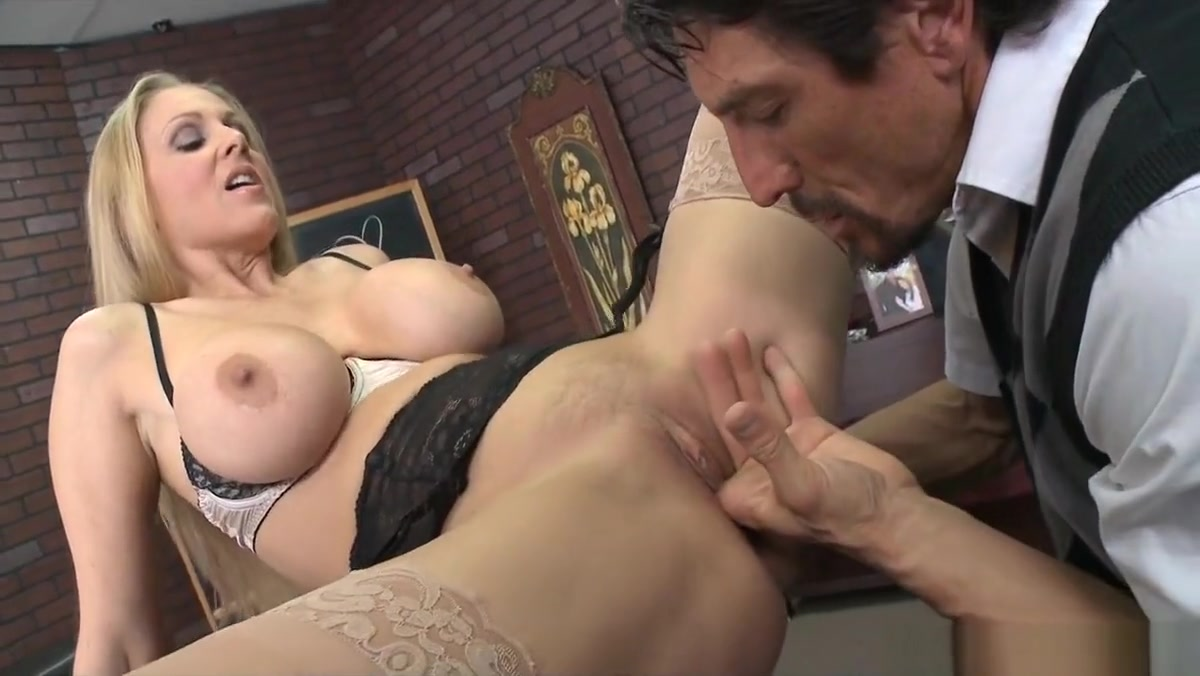 Blonde Cougar Teacher Has Giant Rack