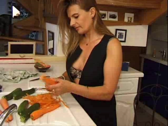 French Vegetables Juicy mature women