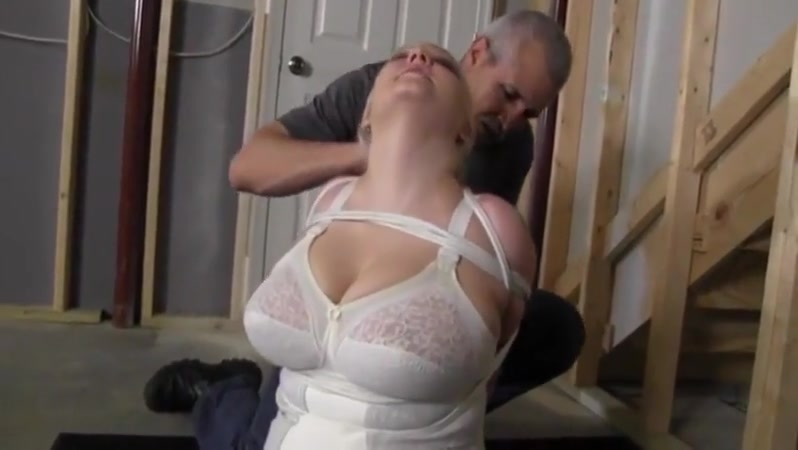 Bondage and handspanked in white corselette Www free hot sex videos