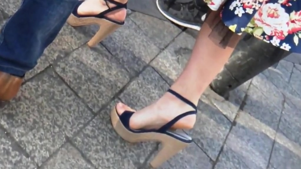 Candid high heels sandals #2 boob slip while dancing