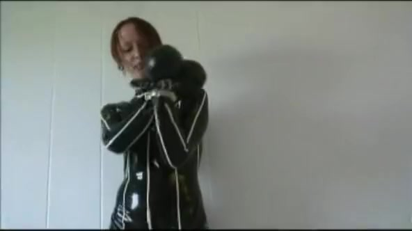 Redhead in heavy rubber and metal cuffs Gaping bbw ass anal