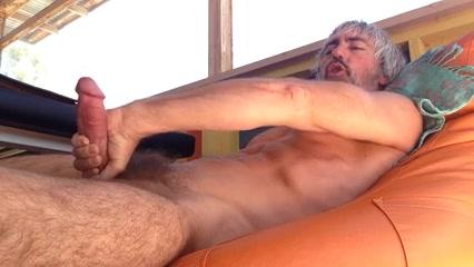 Lay back girl in yoga pants having sex