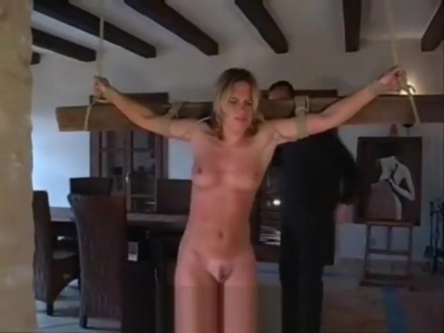 whipping Massive boobs covered in pantyhose