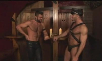 Two Mann leather - muscle in pub sit and spin toy