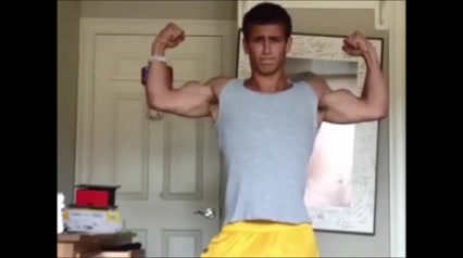 Splendid Bodybuilder Boy Exhib and Wank Busty tgirl fucks a mature beauty