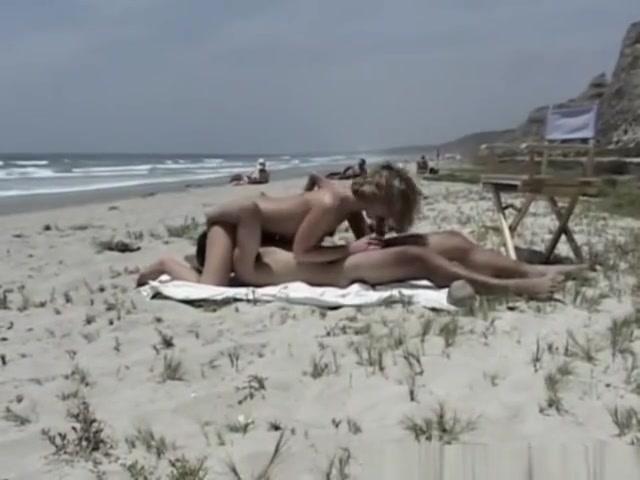 beach Nude tits bike gif